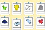 Scrivi i nomi dei vestiti