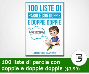 100 liste di parole con doppie e doppie doppie