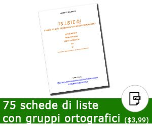75 liste di parole con gruppi ortografici