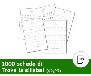 1000 schede di Trova la Sillaba