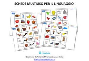 Schede multiuso per il linguaggio