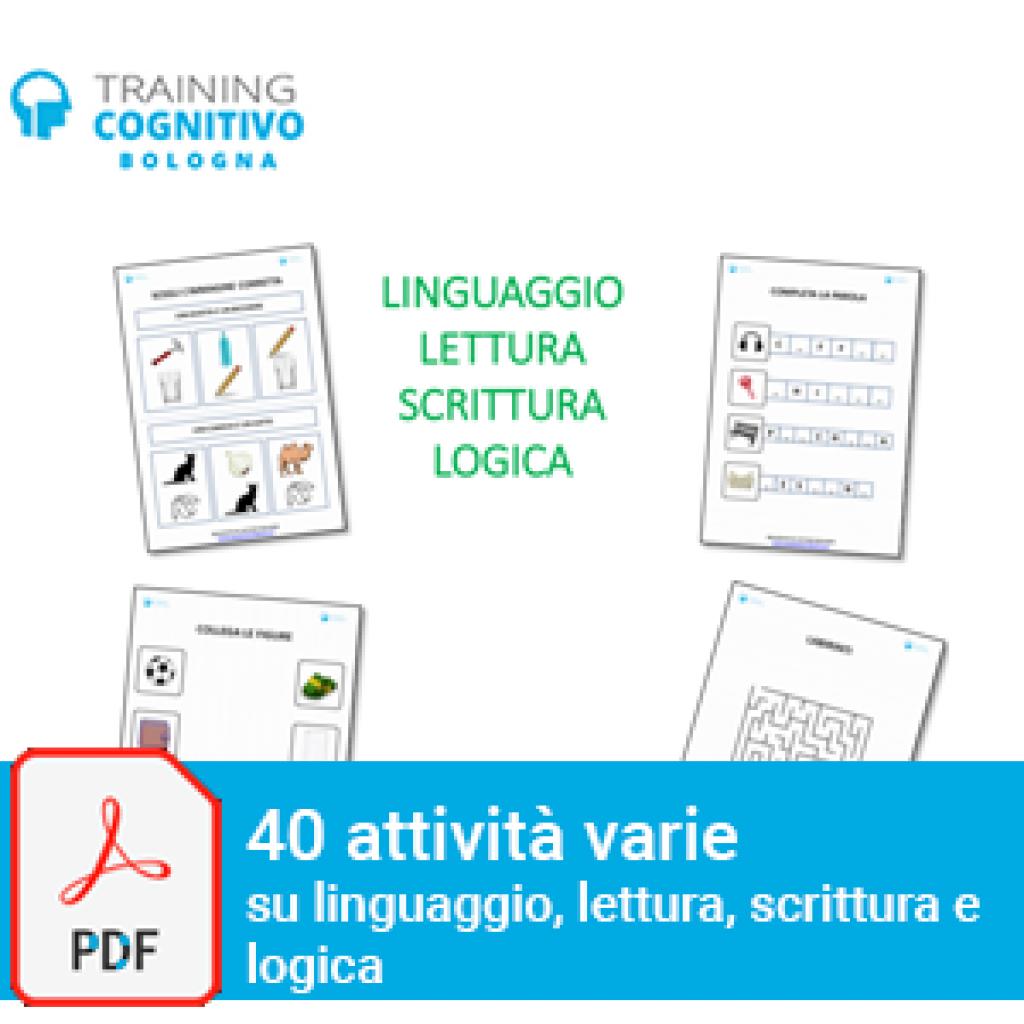 40 attività varie su linguaggio, lettura, scrittura, logica