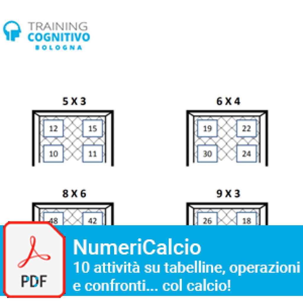 Numericalcio: 10 attività su tabelline, operazioni e confronti... col calcio