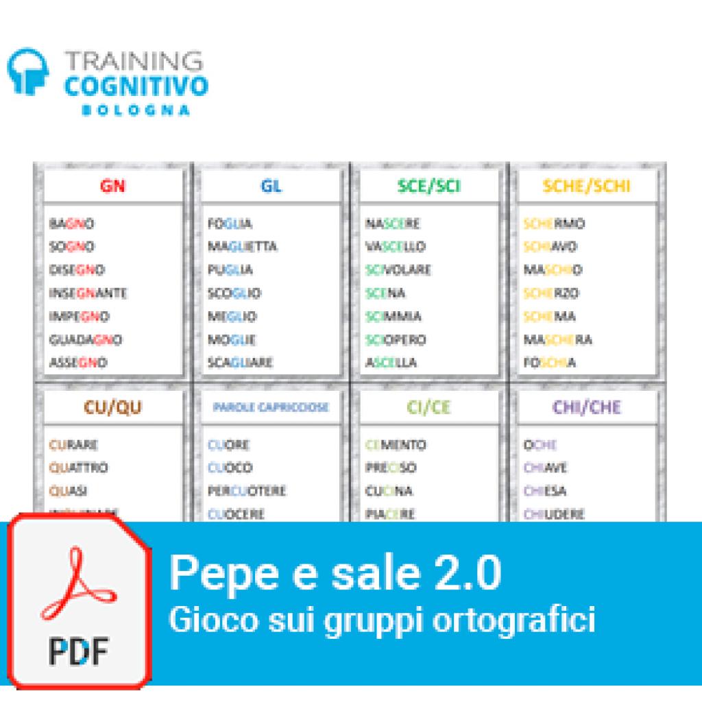 Pepe e sale 2.0 Gioco di carte sui gruppi ortografici