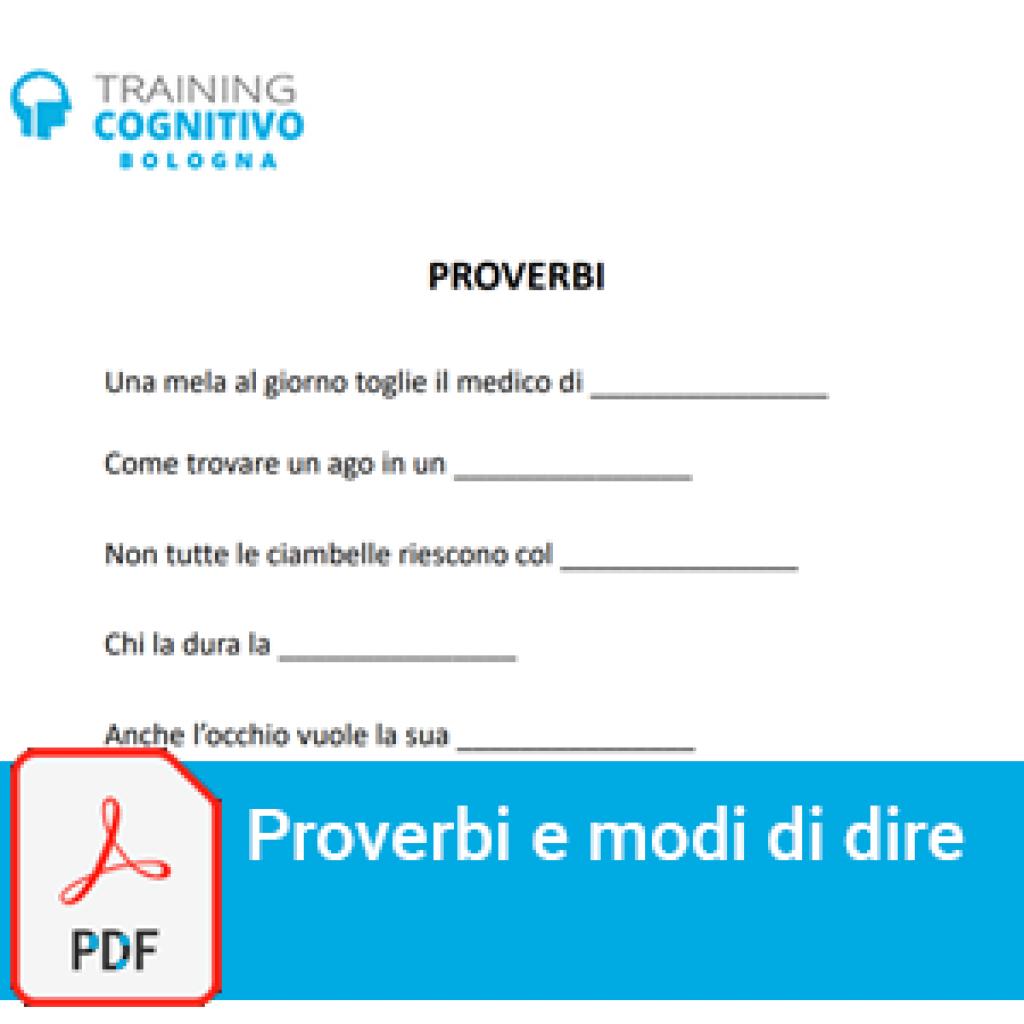 15 schede gratuite su proverbi e modi di dire