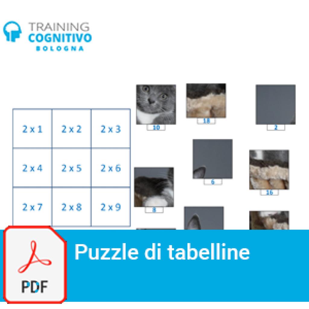 Puzzle di tabelline