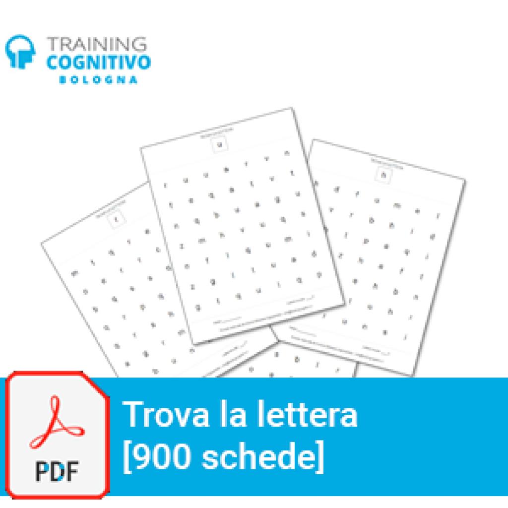 Trova la lettera - 900 schede